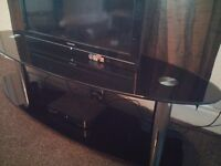MUST GO - Black Glassed TV Stand £40
