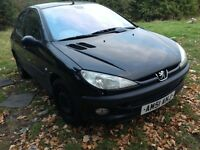 2001 Peugeot 206 2.0 HDi 90 GLX 5dr AC black BREAKING FOR SPARES