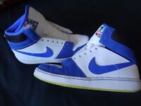 NIKE shoes, blue & white with NIKE logo, good condition, 5.5 UK adult size