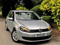 **2012+NICE SPEC** VW GOLF 1.6 TDI MATCH + EXCELLENT SERV HSTRY + 2 KEEPER FROM NEW + NEW TYRES