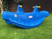 Little tikes blue whale seesaw