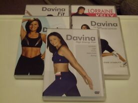 DAVINA AND LORRAINE KELLY FITNESS DVD'S .