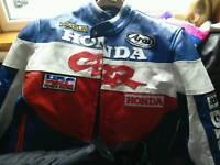 Two motor bike jackets