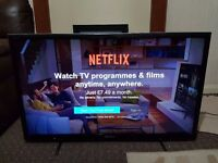 Sony Bravia 40 inch Smart TV, Builtin WiFi, Excellent mint condition and fully working