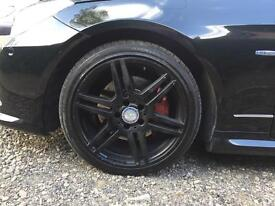 Mercedes alloys amg c class e class wheels with tyres