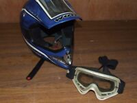 motorcycle helmet and goggles FREE FREE FREE