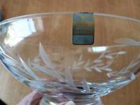 EDINBURGH Hand Cut Crystal Bowl (GLENEAGLES) New Unwanted Gift Original Label in Place,