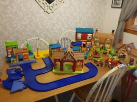 Happyland village sets road pieces,high street road blocks amd lots of accessories included