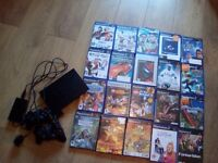 Playstation 2 , ps2 slimline console lot with 20 Games.
