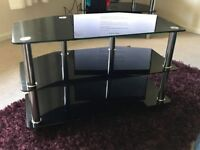 Black Glass Coffee/TV Table 80 x 40 x 50cm pick up/delivery from Abingdon 2 available