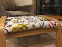 Ikea Poang floral footstool