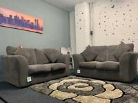 Grey corded sofas ex display delivery 🚚 sofa suite couch furniture