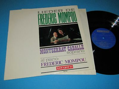 Montserrat Caballe, Frederic Mompou / Lieder De (Spain, Vergara 701-STL) - LP