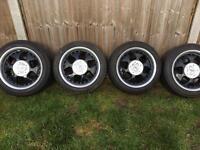"""4x100 KESKIN alloy wheels 15"""", stunning condition"""