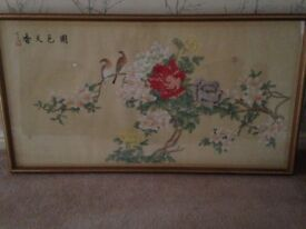 Pair of Chinese Silk prints