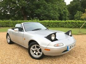 Mazda Eunos MX5 Import 1.6 Petrol Auto New MOT 100k No Rot Good Example with Good History File