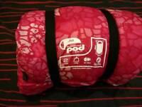 Gelert pink kids junior sleeping pod sleeping bag