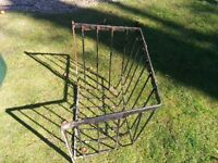 Hay Rack and Horse Feeder - metal ideal planters?