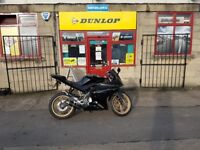 Yamaha 125 YZF-R125 2012, only 6,500 miles, new chain, long MOT and £1000 worth modifications