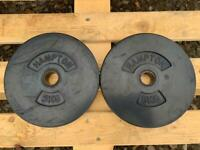 2 x 5kg Hampton Standard Rubber Weight Plates (Delivery Available)