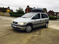 ZAFIRA 1.6 MANUAL 7 SEATER EXCELLENT CONDITION-YEAR MOT LOW MILEAGES-1 OWNER ROOF BOX-FULL SERVICE
