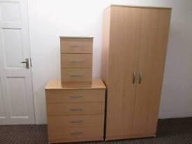 Beech wardrobe set