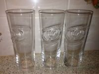 Drinking or Beer Pint size Glasses 3 for £1 only.