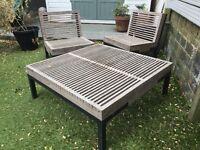 Wood garden furniture set in good condition