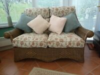 Cane Consevatory furniture - 2 Seater settee, Chair, Foot Stool and small table
