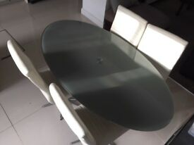 Dwell dinning table and 4 x chair set - new condition - great price