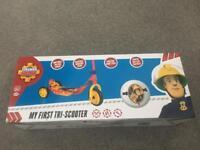 Fireman Sam scooter and helmet