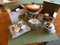 Harlequin Fruits Butter Dish/Milk jug/Sugar bowl and Biscuit Barrel