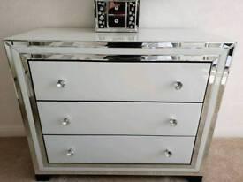 Housing Units Dash white mirrored chest of drawers