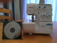 Janome 8002D Differential feed over locker Sewing machine