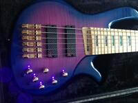 6 string active bass guitar