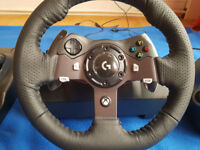 Logitech Driving Force G920 Steering Wheel, Pedals and Gear Shifter for Xbox One and PC
