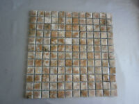 New mosaic ceramic tiles - Creams/browns - AGKAR