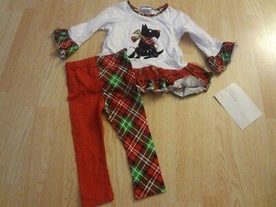 Infant/Baby Bonnie Jean Sz 18 Mo. NWT Christmas Dog Outfit ()