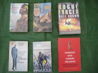 6 Adventure and Military Action Novels for £3.00
