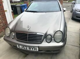 52 PLATE (2003) Mercedes CLK 320 Avantgarde auto 3.2 petrol Full heated leather Silver, convertible