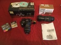 Nikon D3100 excellent condition boxed with 18-55mm lenses also Tamron AF 70-300mm lense.