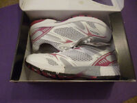 White trainers - with pink - Size 7 - boxed, unworn