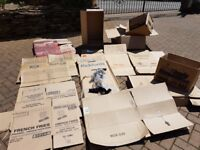 FREE _____ Various Package cases including wardrobe cardboard boxes with hanger