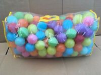 Large bag of coloured plastic balls