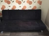 Sofa bed (chocolate colour) collection only