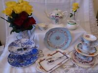 Vintage crockery business stock over 100 place settings crockery, silver cutlery, about 2000 pieces