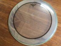 Drum Heads - 22 Bass Drum Head Remo Powerstroke 3 - Excellent
