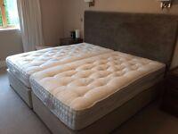 2 Quality Harrison Three-Quarter Beds, Extra Length [107cm x 200cm]