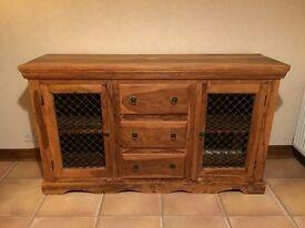 solid oak side board