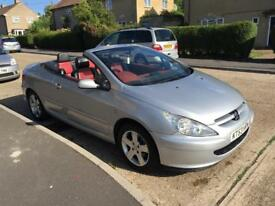 PEUGEOT 307CC AUTOMATIC CONVERTIBLE 53 PLATE FULLY LOADED MOT EXCELLENT RUNNER £850